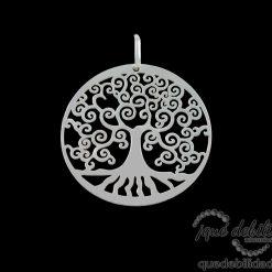 Colgante de plata con árbol de la vida