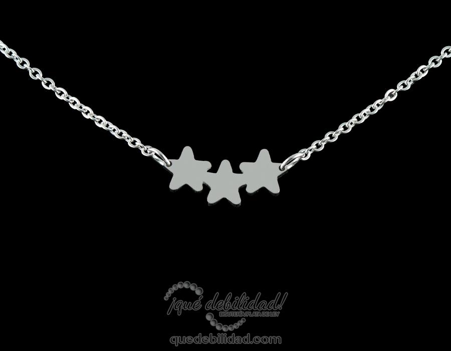 comprar popular 84c30 190b9 Collar de Acero Tres Estrellas