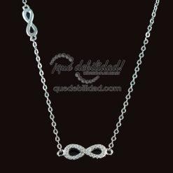 Collar de plata con doble infinito circonitas