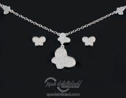 Conjunto de plata con mariposa circonitas