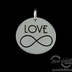 Medalla de plata love infinito