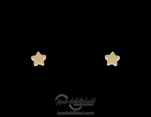 Pendientes de acero estrella pequeña dorados