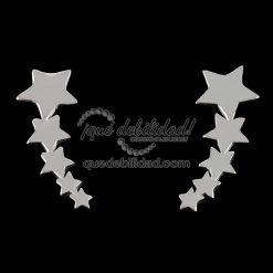 Pendientes de plata de lóbulo estrellas