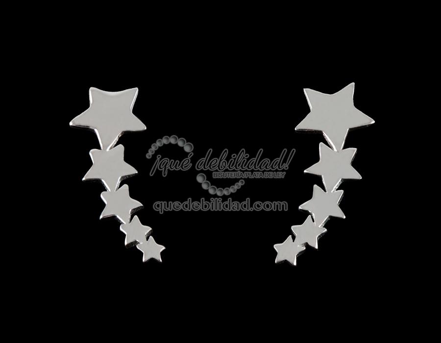 3584aa792ed0 Pendientes de Plata Lóbulo Estrellas - ¡Qué Debilidad!