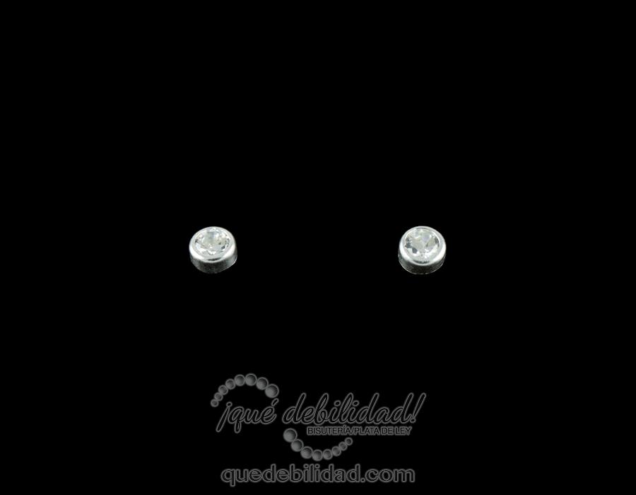 bd2ac5e7a998 Pendientes de Plata Redondos Mini Circonita - ¡Qué Debilidad!