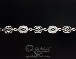 Pulsera de plata con eslabón de infinito circonitas y liso